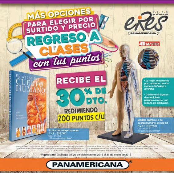 Ofertas de Librería Panamericana, Plan de Beneficios Eres - Regreso a clases 2017