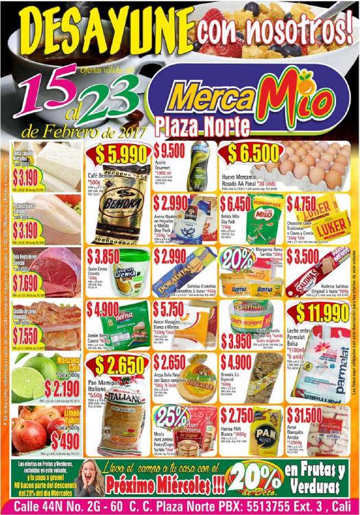 Ofertas de MercaMío, Desayune con nosotros! - Plaza Norte