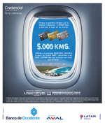 Ofertas de Banco de Occidente, Credencial Tarjeta de Crédito - Bono LATAM