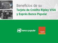 Beneficios de su tarjeta de crédito Ripley Visa y Express Banco Popular