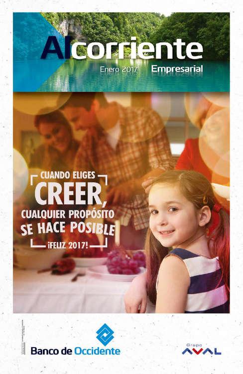 Ofertas de Banco de Occidente, Alcorriente Empresarial - Enero 2017
