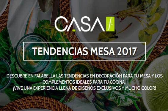 Ofertas de Falabella, Tendencias Mesa 2017