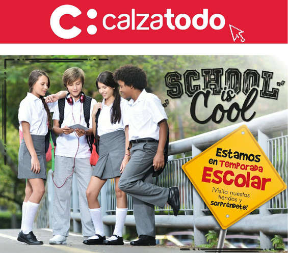 Ofertas de Calzatodo, Temporada Escolar - School is Cool