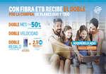 Ofertas de ETB, Con fibra ETB recibe el doble por la compra de planes dúo y trío