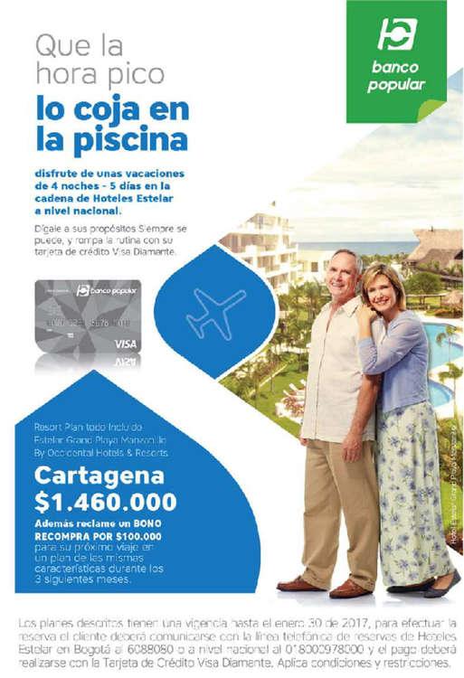 Ofertas de Banco Popular, Tarjetas de Crédito Diamante - Hoteles Estelar