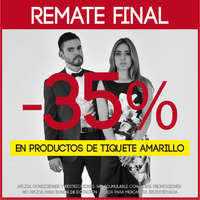 Remate final - 35% en productos de tiquete amarillo