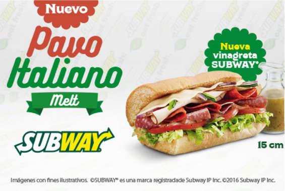 Ofertas de Subway, Nuevo Pavo Italiano Melt