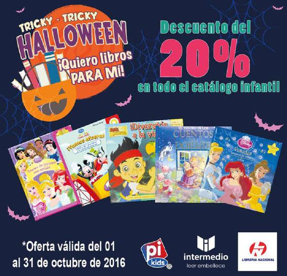 Ofertas de Librería Nacional, Descuento del 20% en todo el catálogo infantil