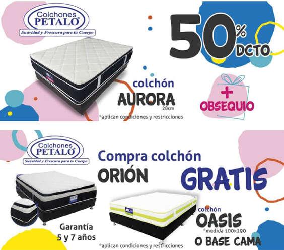 Ofertas de Colchones Pétalo, Promociones