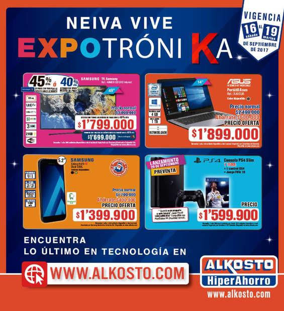 Ofertas de Alkosto, Neiva vive Expotrónika