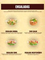 Ofertas de El Corral, Menú Ensaladas