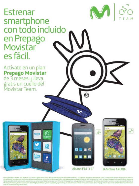 Ofertas de Movistar, Estrena Smartphone en prepago Movistar