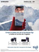 Ofertas de Tigo, Compra tu Galaxy S8 o S8+ en las tiendas Tigo y recibe un combo de 3 regalos