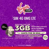 Nueva SIM Card Con 3GB