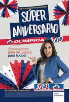 Ofertas de Super Almacenes Olímpica, Súper Aniversario Olímpica