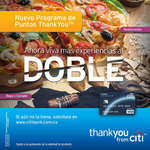 Ofertas de Citibank, Puntos Thank You