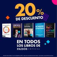 20% de descuento en todos los libros de Paidós Empresa