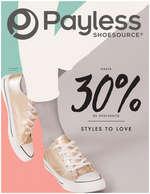 Ofertas de Payless, Catálogo Styles to Love. Hasta 30% de descuento - Bogotá