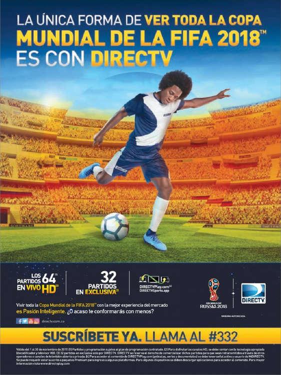 Ofertas de DirecTV, La única forma de ver toda la Copa Mundial de la Fifa 2018 es con Directv