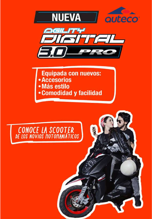 Ofertas de Auteco, Nueva Agility Digital 3.0 Pro