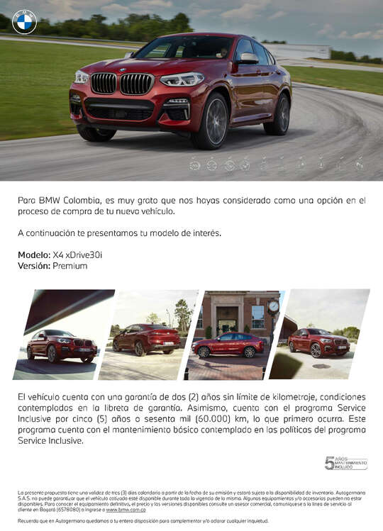Ofertas de BMW, X4 xDrive30i Premium - 2021