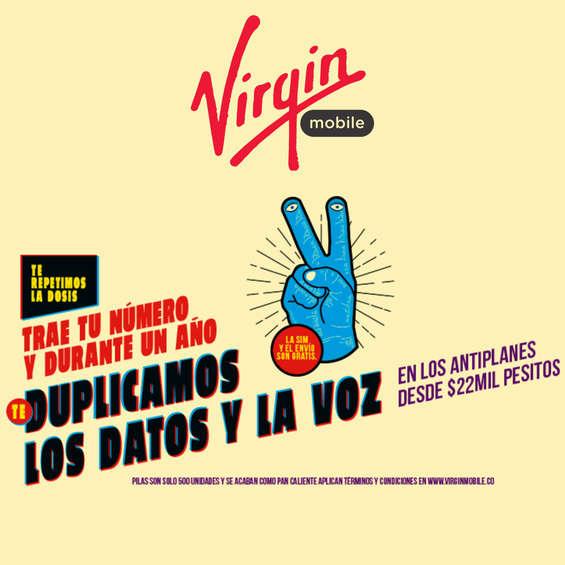 Ofertas de Virgin Mobile, Te Duplicamos Los Datos