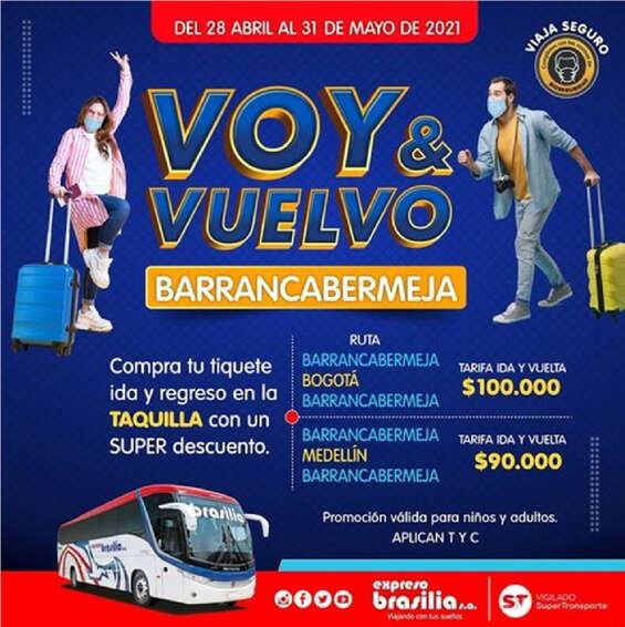 Ofertas de Expresos Brasilia, Voy y Vuelvo