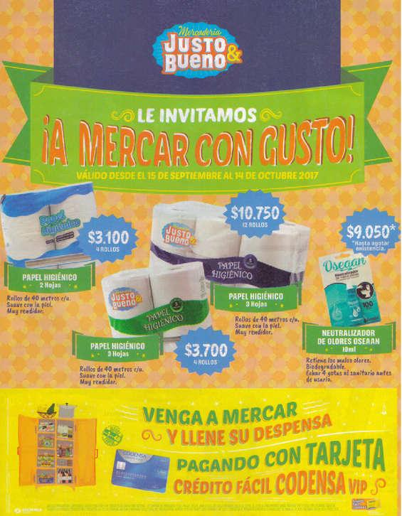 Ofertas de Mercadería Justo & Bueno, Catálogo de productos - Le invitamos a mercar con gusto