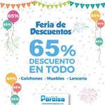 Ofertas de Colchones Paraiso, Feria de Descuentos 65% en todo
