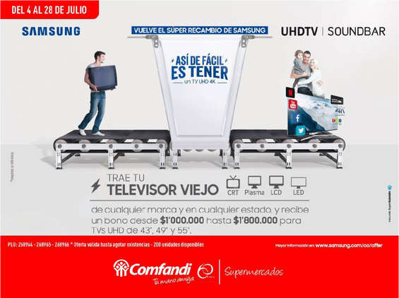 Ofertas de Supermercados Comfandi, Vuelve el súper recambio de Samsung