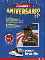 Ofertas de Expresos Brasilia, Estamos de Aniversario