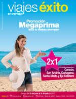 Ofertas de Viajes Éxito, Promoción Megaprima, saca tu instinto ahorrador