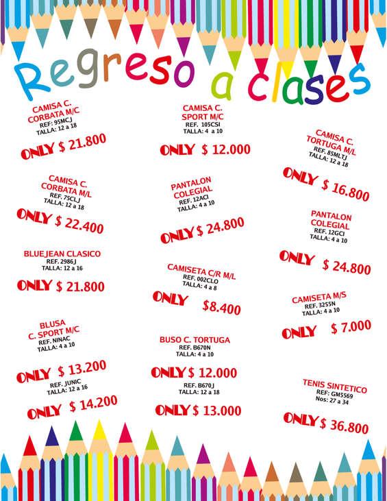 Ofertas de Almacenes Only, Catálogo Julio 2017 - Regreso a clases