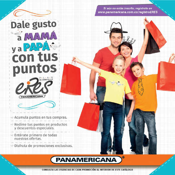 Ofertas de Librería Panamericana, Dale gusto a mamá y a papá con tus puntos Eres