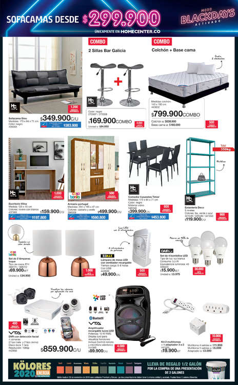 Ofertas de HomeCenter, BLACK DAYS