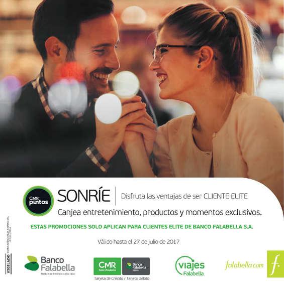 Ofertas de Banco Falabella, Catálogo Cliente Elite - Julio 2017