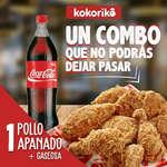 Ofertas de Kokoriko, Pollo apanado + Gaseosa