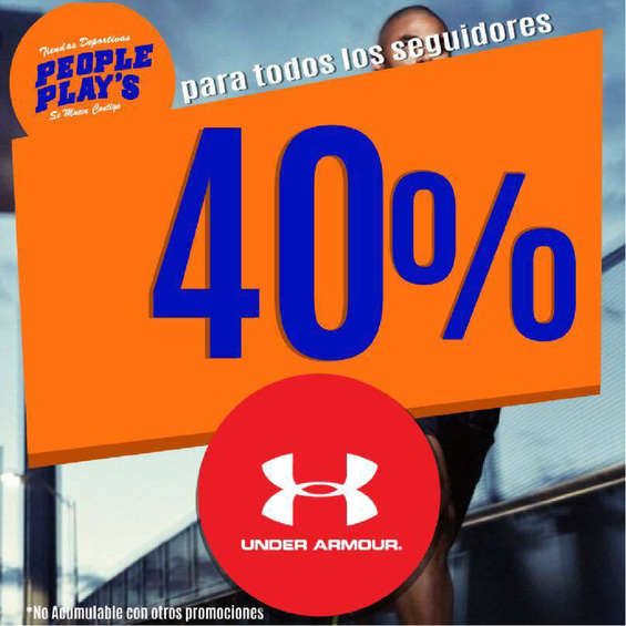 Ofertas de People Plays, 40% de descuento en Under Armor