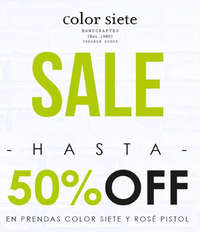 SALE Hasta 50%Off en prendas Color Siete y Rosé Pistol